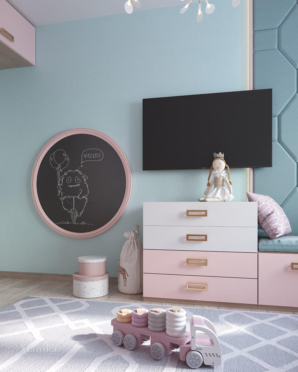 Дизайн детской для девочки фото 16-6