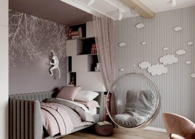 Стильная детская комната в скандинавском стиле