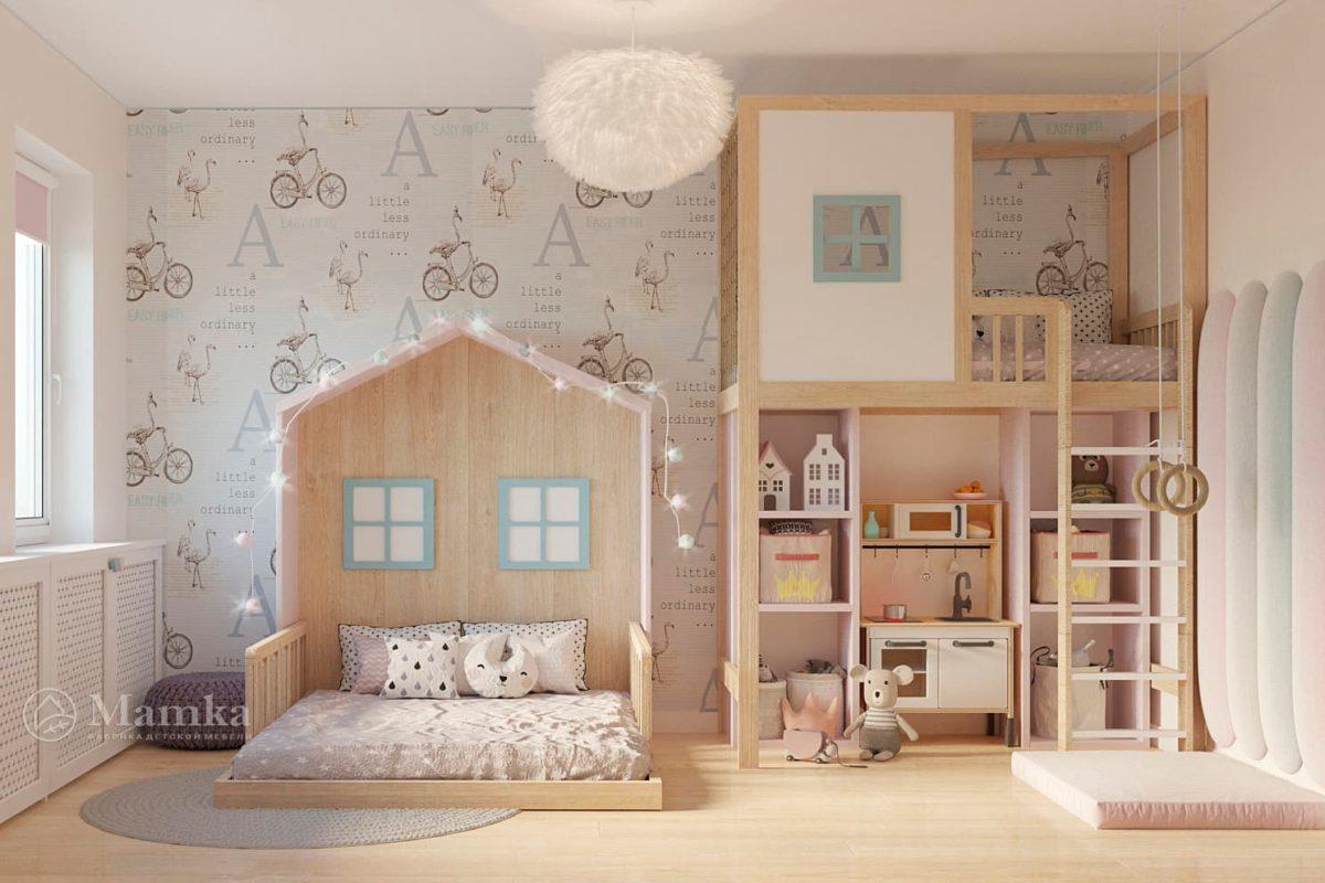 Дизайн детской для девочки фото 9-1