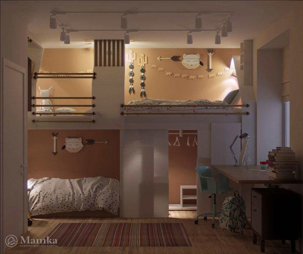 Дизайн детской для двух мальчиков с органичным наполнением 4