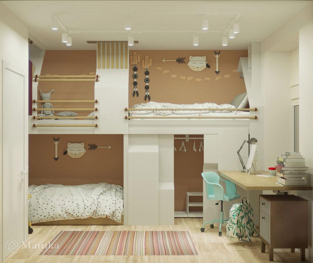 Дизайн детской для двух мальчиков с органичным наполнением 5