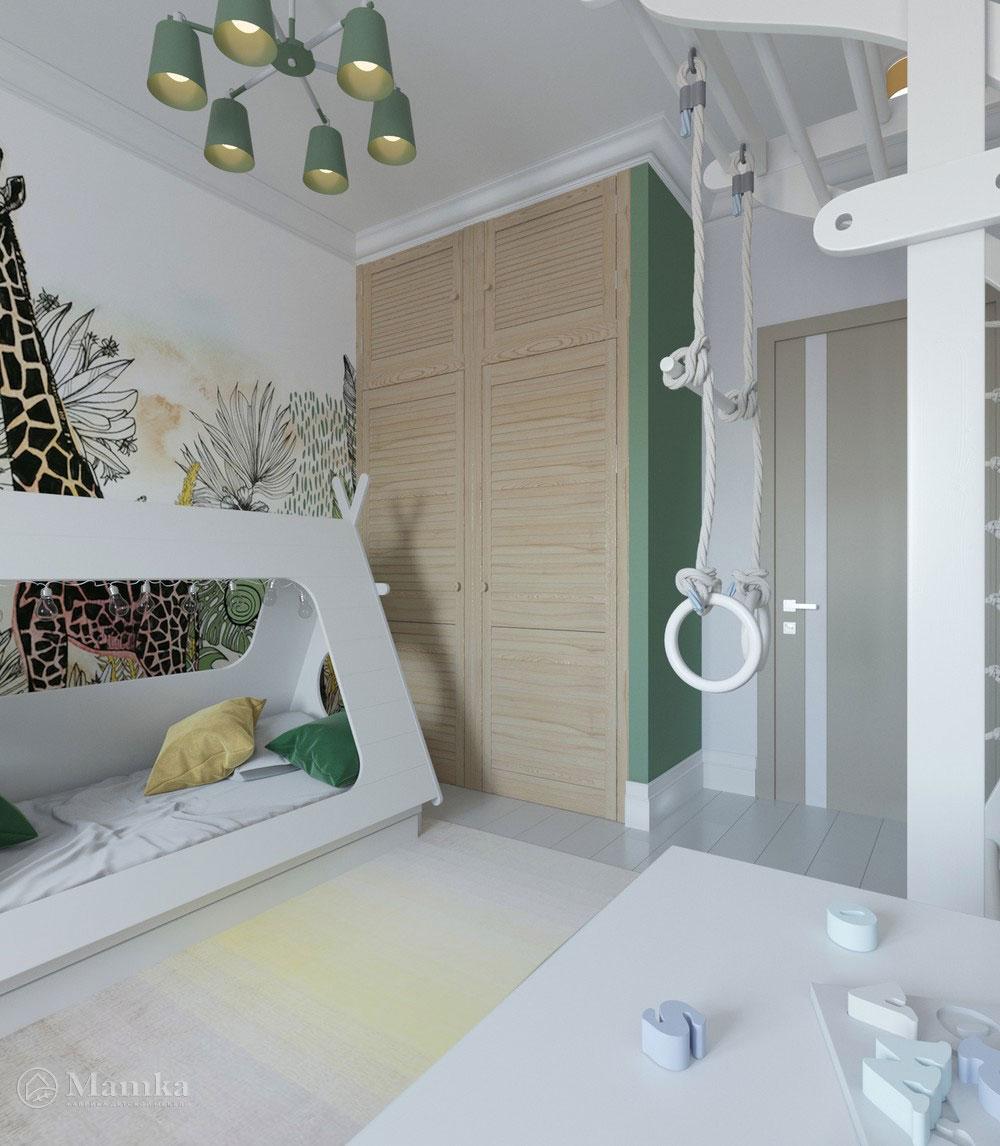 Яркий дизайн детской комнаты с анималистичными мотивами 2