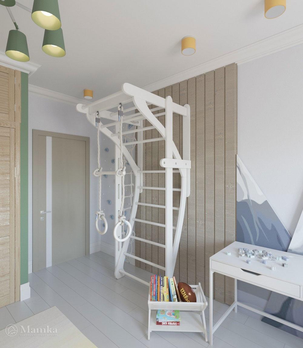 Яркий дизайн детской комнаты с анималистичными мотивами 5