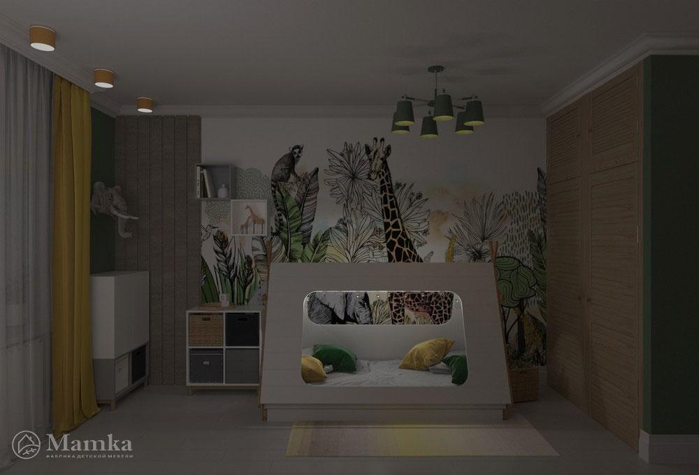 Яркий дизайн детской комнаты с анималистичными мотивами 9