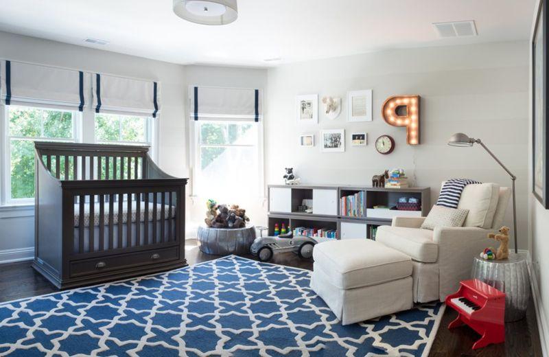 Дизайн детской для мальчика-младенца
