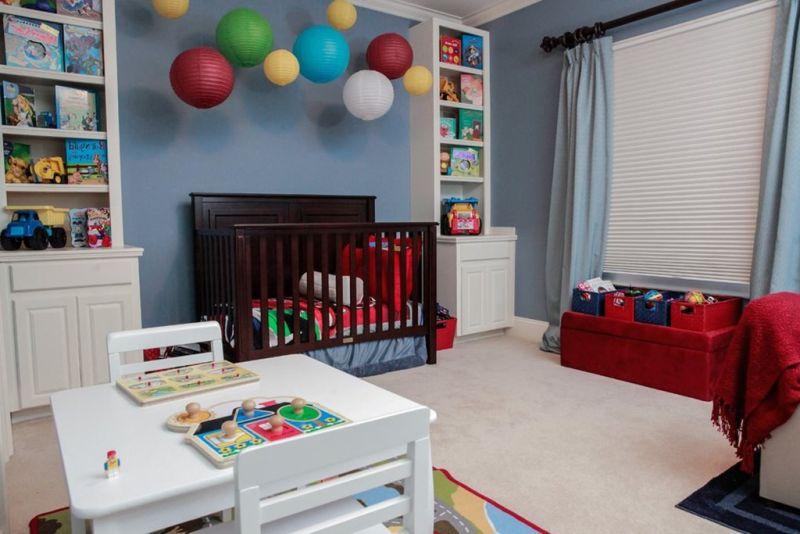 Дизайн детской для мальчика: корзины для игрушек