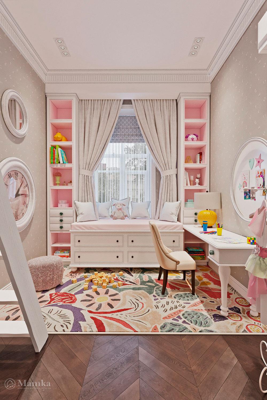 Дизайн детской для разнополых детей, в котором удобно каждому 1