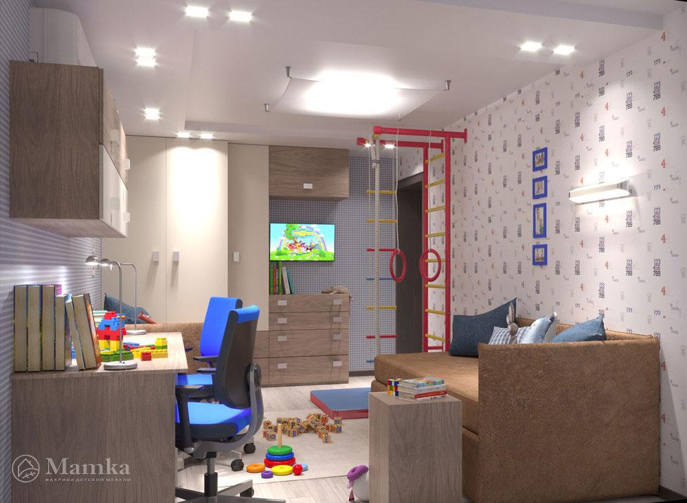 Дизайн детской для двух мальчиков 1