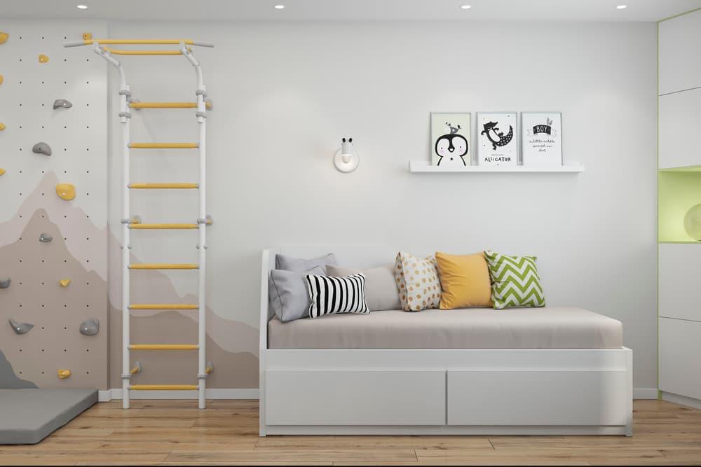 Зоны в детской комнате для отдыха и активного времяпровождения 2