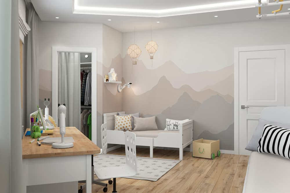 Зоны в детской комнате для отдыха и активного времяпровождения 4