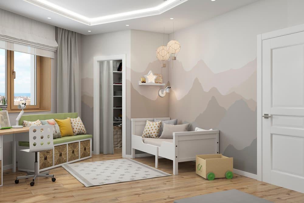 Зоны в детской комнате для отдыха и активного времяпровождения 5