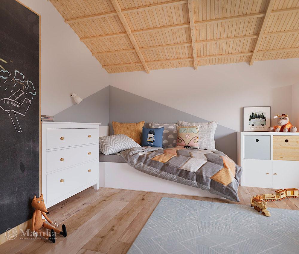 Дизайн детской комнаты с большой игровой зоной 9