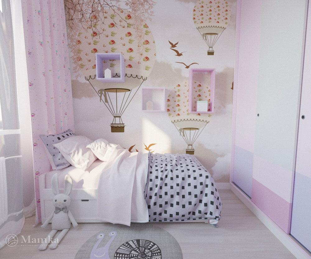 Дизайн детской комнаты для девочки с ноткой волшебства 1