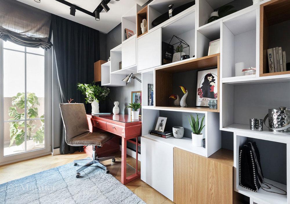 Дизайн детской комнаты для девочки в модных сдержанных тонах 7