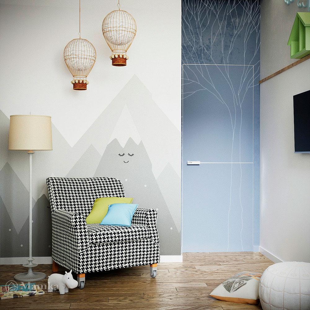 Дизайн детской комнаты в нежных тонах с функциональной мебелью 3