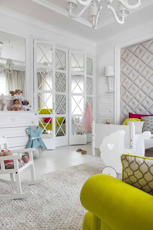 Дизайн детской комнаты в нежных тонах с сочными акцентами 3