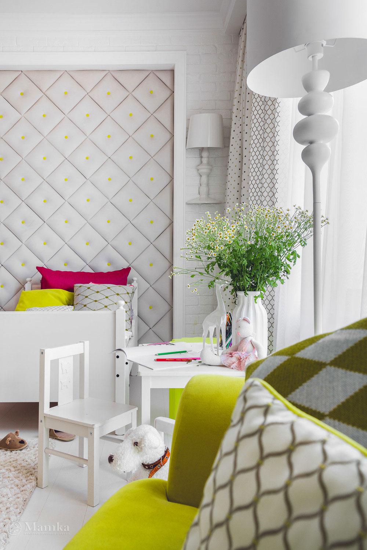 Дизайн детской комнаты в нежных тонах с сочными акцентами 6