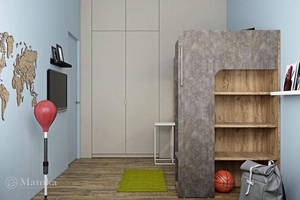 Дизайн детской комнаты с двухъярусной кроватью 2