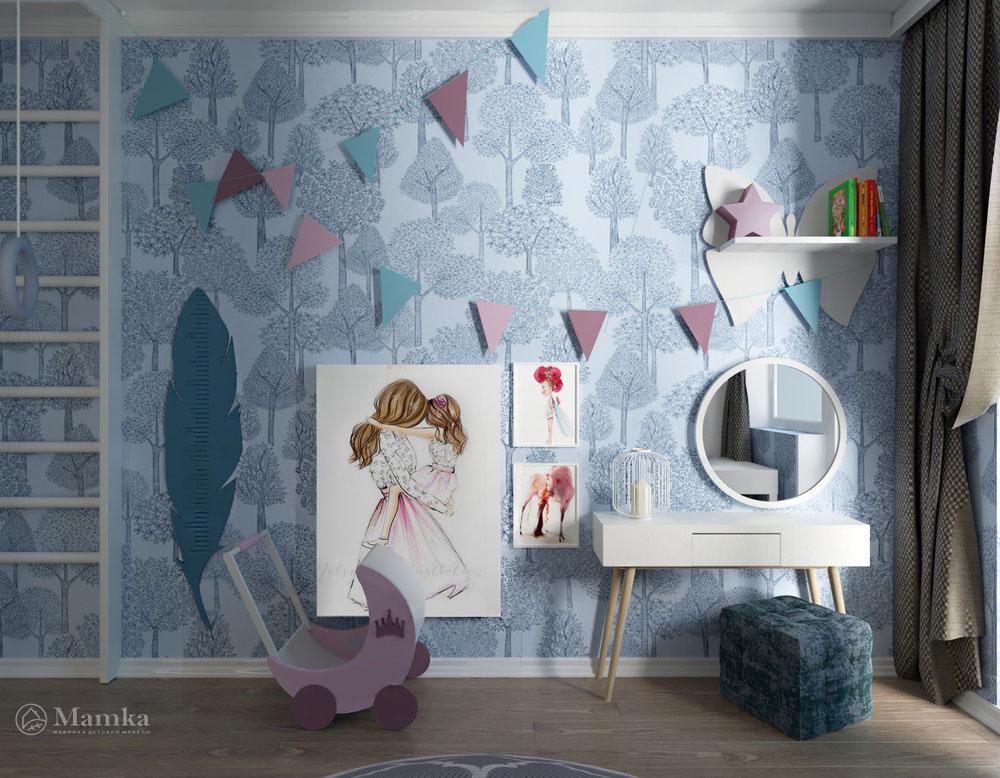 Дизайн детской комнаты с двухъярусной кроватью фото