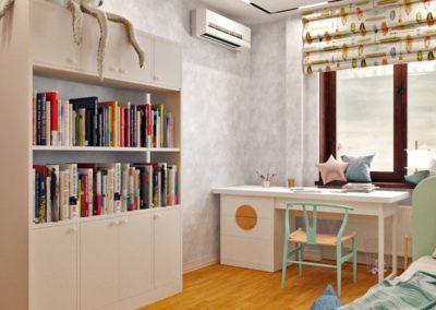 Яркая комната для мальчика в стиле тропического побережья