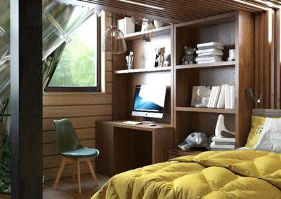 Дизайн комнаты для двух мальчиков в тропическом стиле