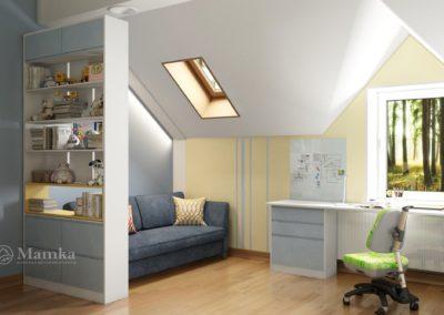 Дизайн комнаты для мальчика с двумя уровнями и лестницей