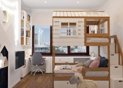 Дизайн комнаты для двух мальчиков с двухъярусной кроватью