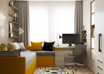 Яркий дизайн комнаты для мальчика в современном стиле
