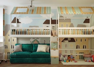 Уютный дизайн комнаты для двоих мальчиков
