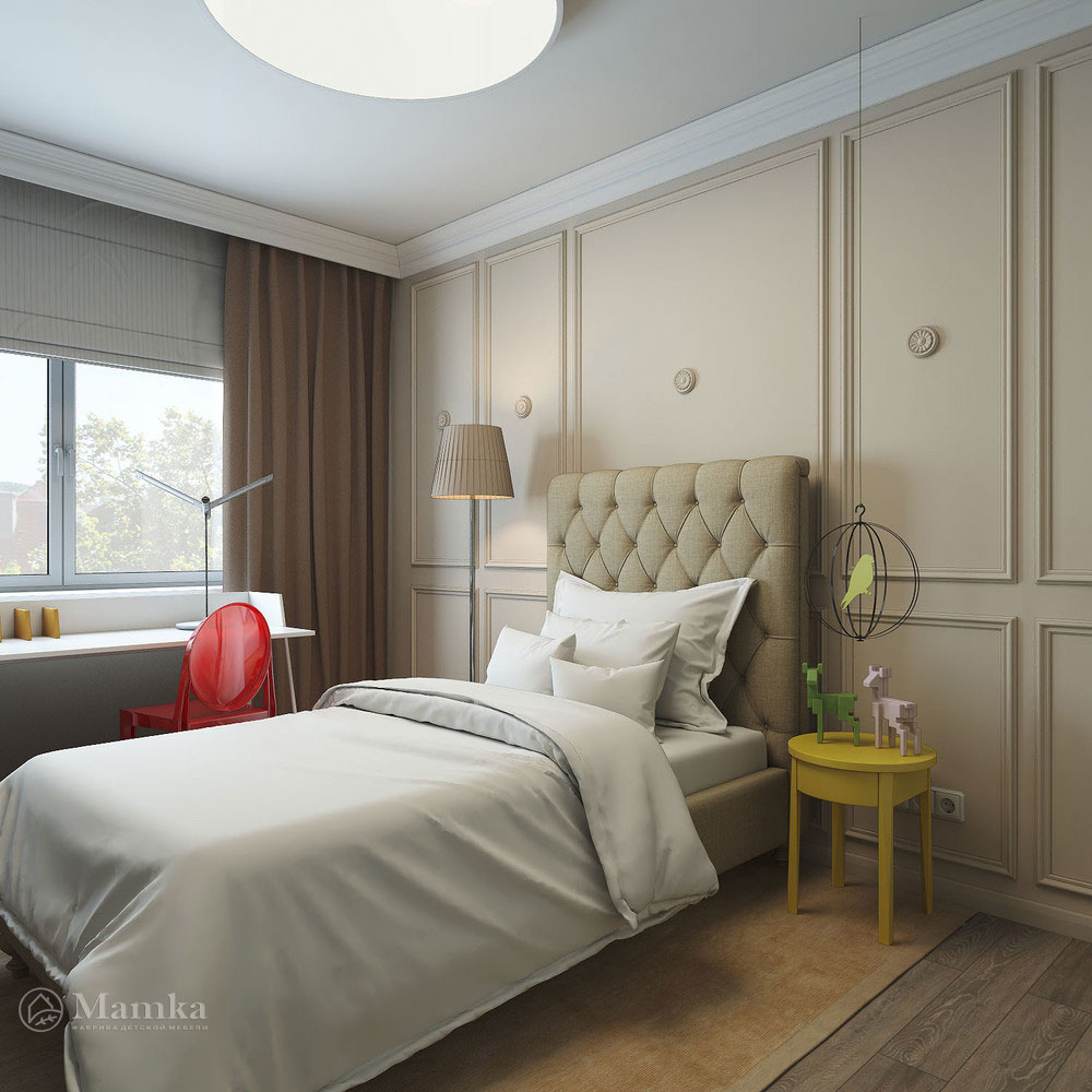 Дизайн детской спальни с элегантной классической ноткой 1