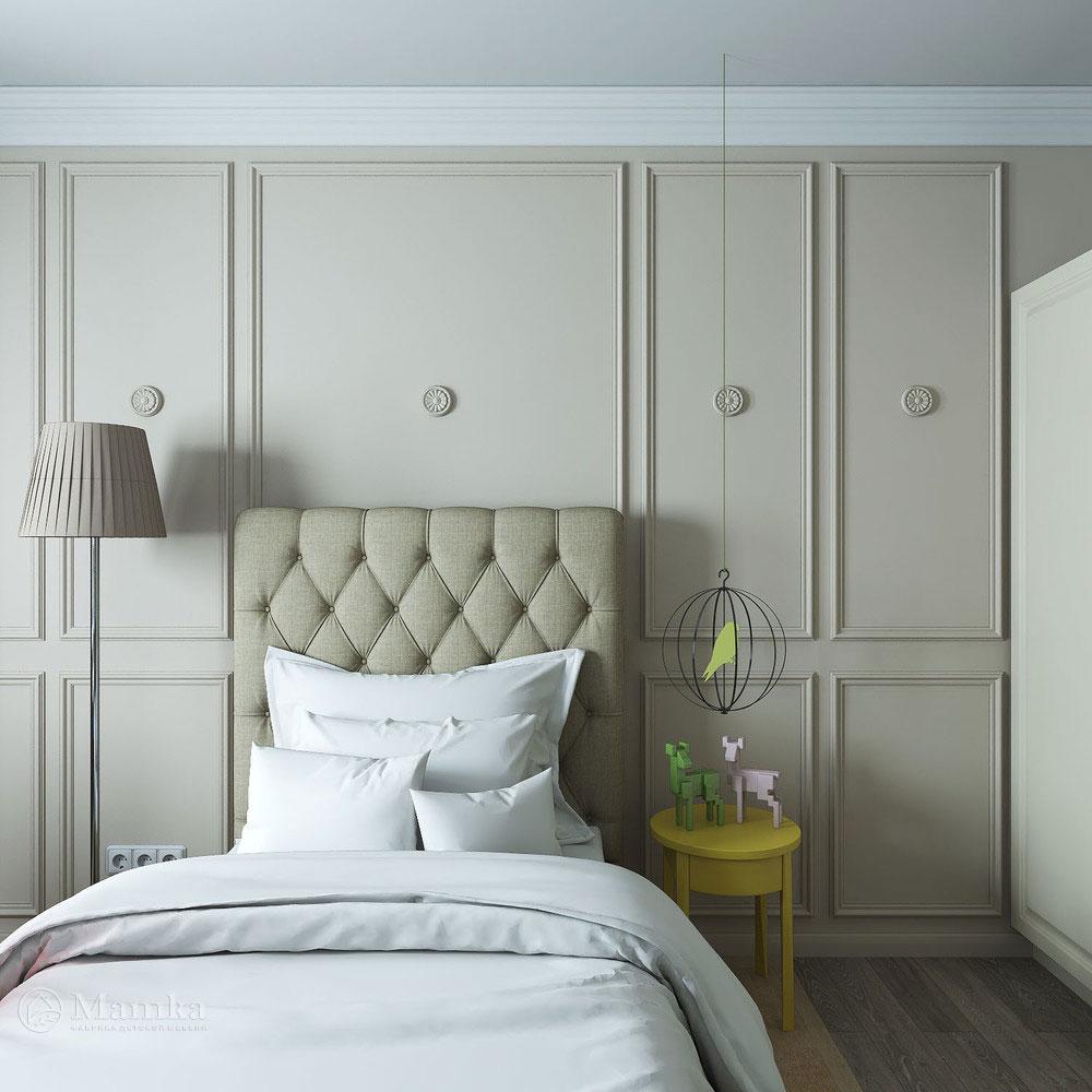 Дизайн детской спальни с элегантной классической ноткой 2