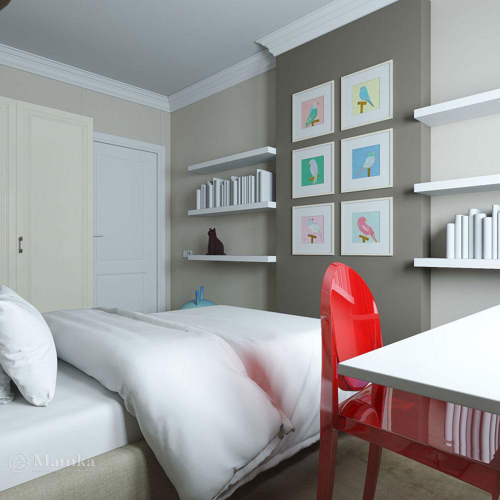 Дизайн детской спальни с элегантной классической ноткой 5