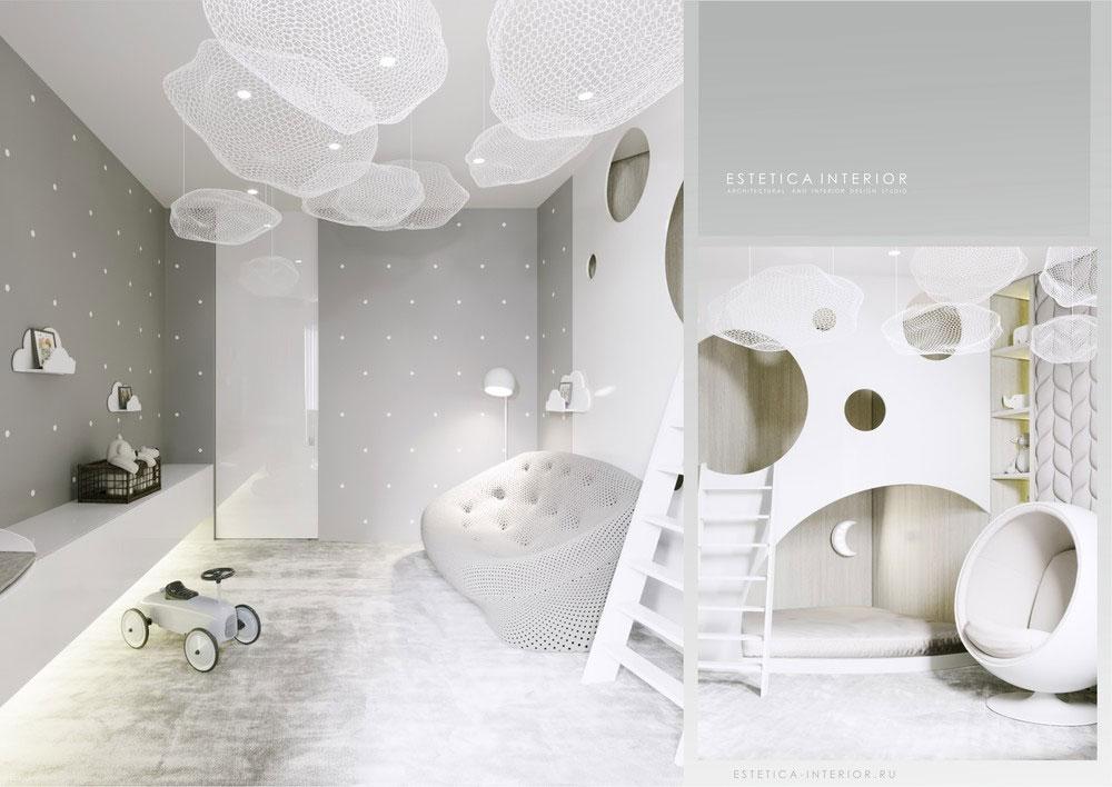 Дизайн детской спальни в светлых тонах 1