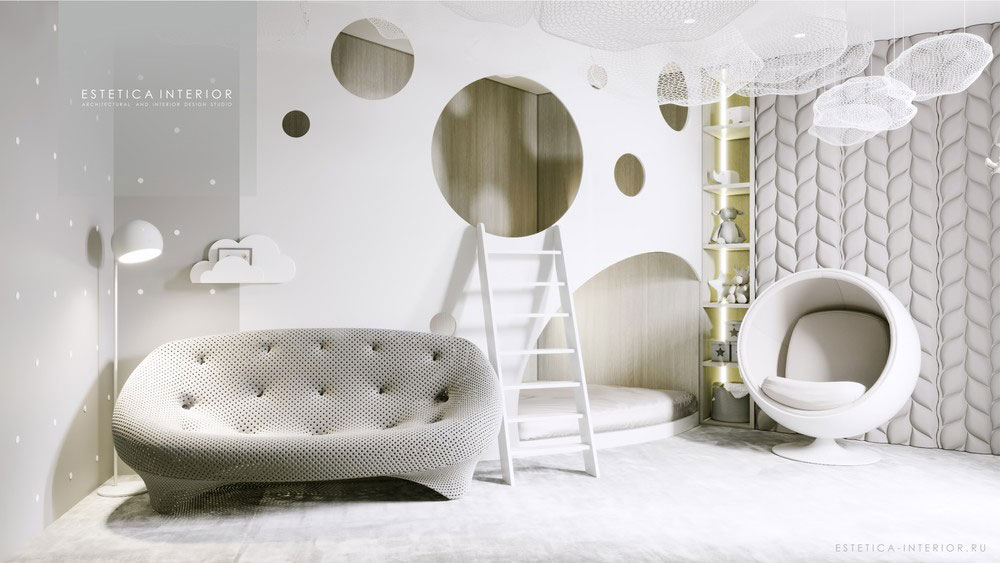 Дизайн детской спальни в светлых тонах 3