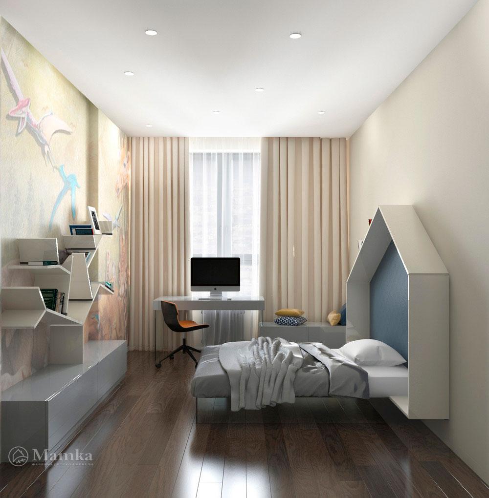 Дизайн интерьера детской для мальчика в стиле минимализм 2
