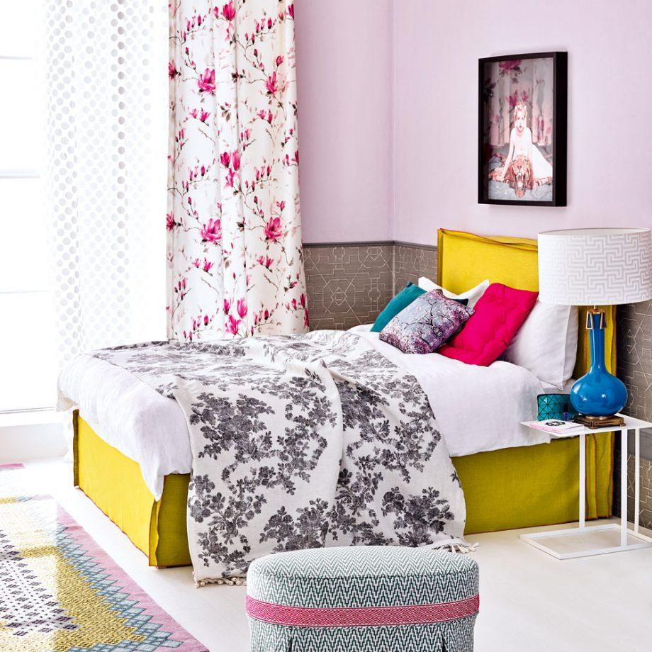 Дизайн комнаты для девочки-подростка: цветочные принты