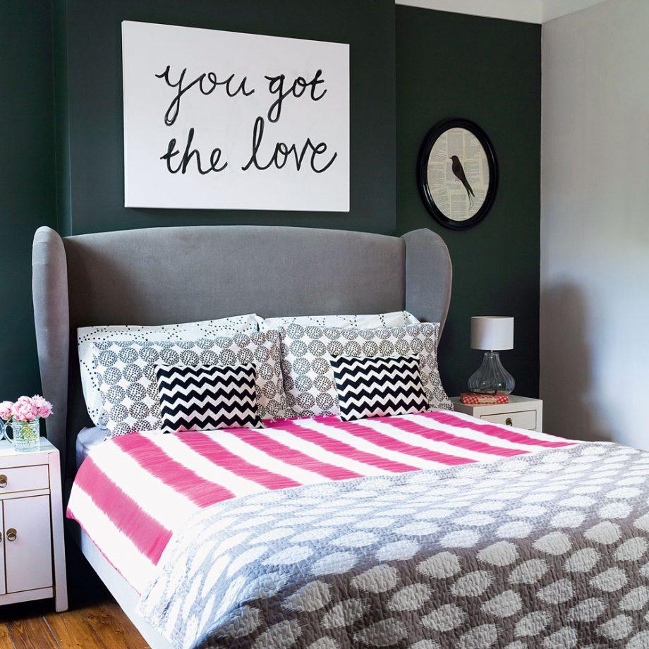 Дизайн комнаты для девочки-подростка в тёмных тонах