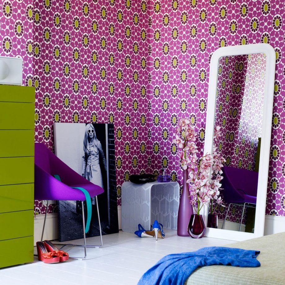 Дизайн комнаты для девочки-подростка в стиле ретро