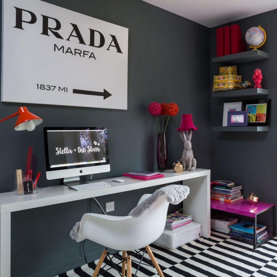 Дизайн комнаты для девочки-подростка: школьный уголок