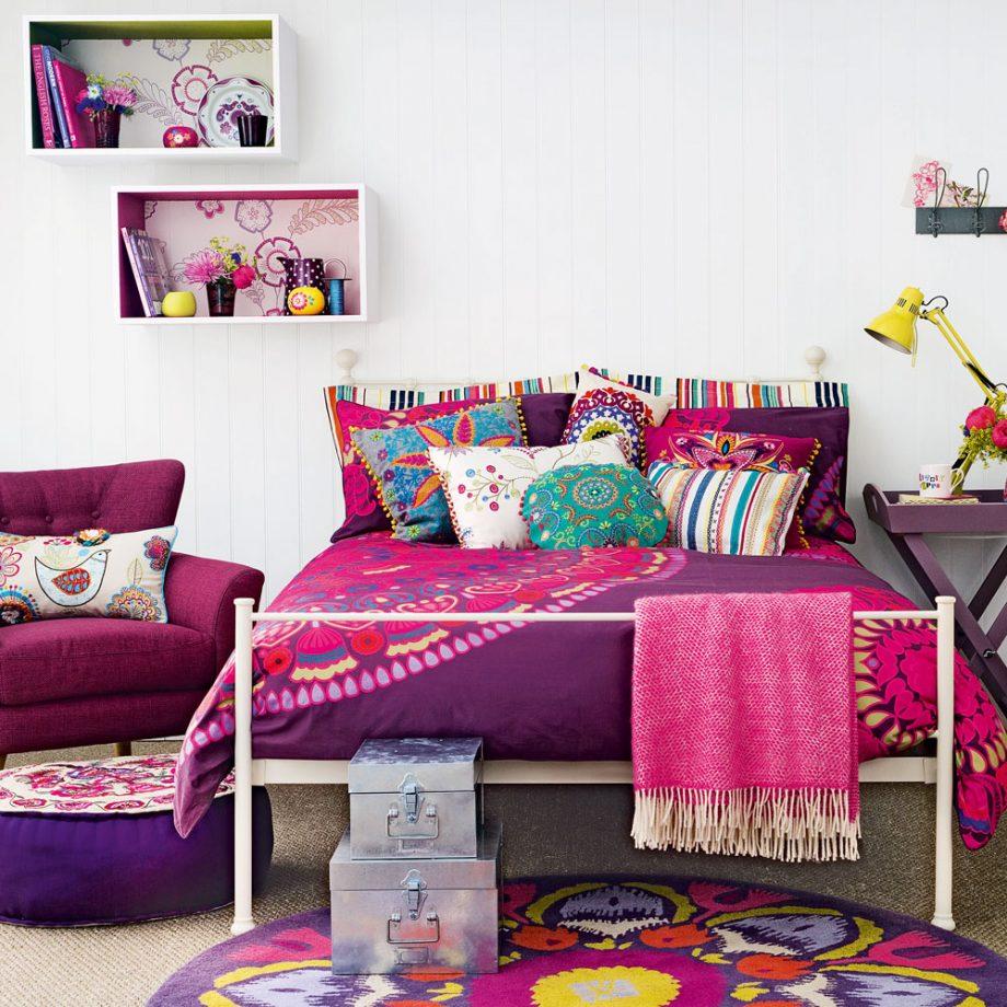 Дизайн комнаты для девочки-подростка с этническими принтами