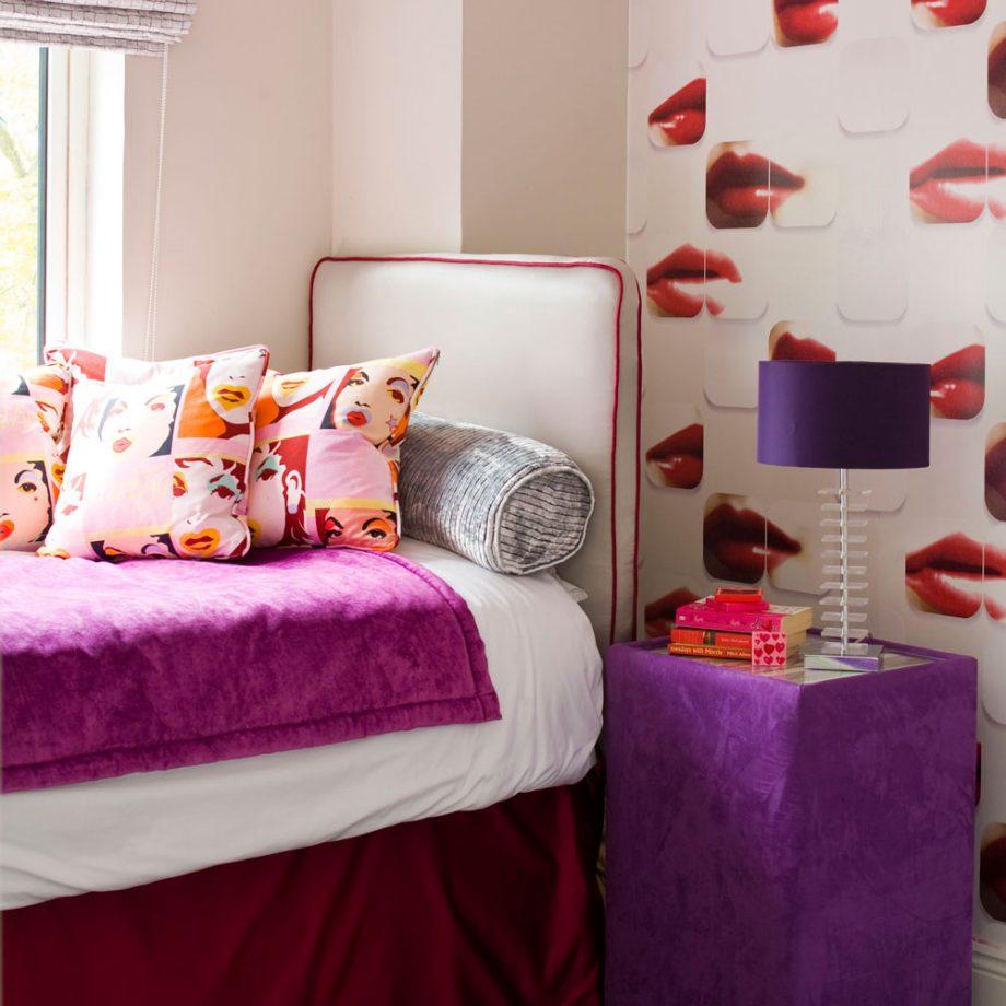 Дизайн комнаты для девочки-подростка: яркий и гламурный
