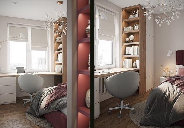 Эксклюзивный интерьер маленькой детской комнаты в Москве 2