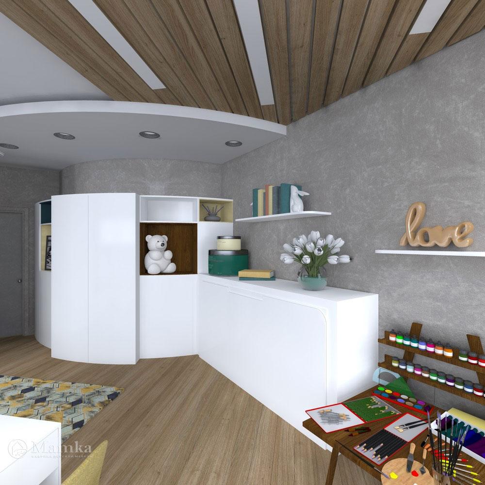 Гармоничный дизайн детской спальни для девочки 2