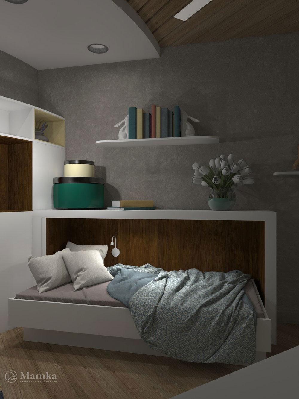 Гармоничный дизайн детской спальни для девочки 5