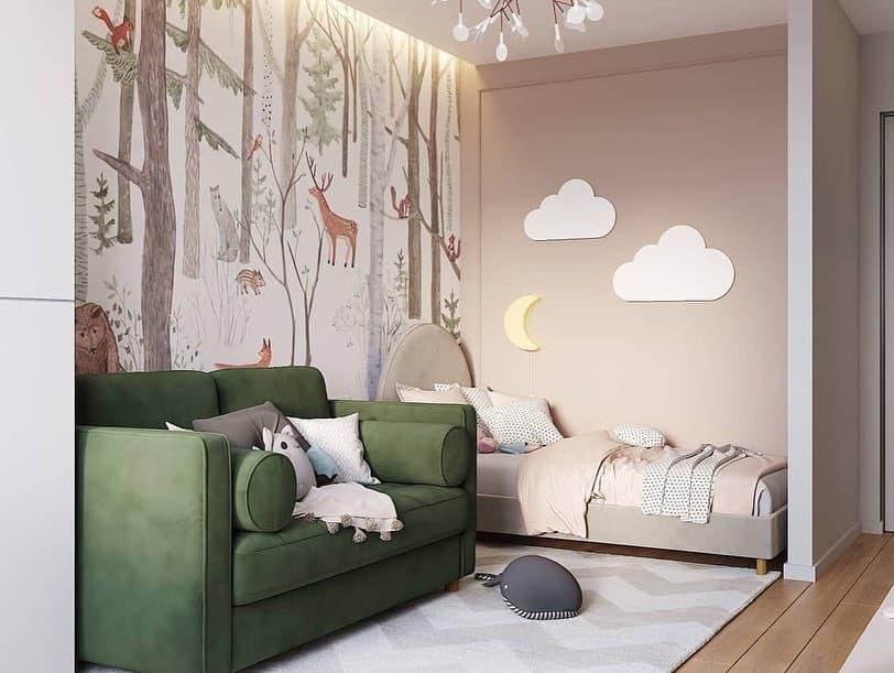 Готовый дизайн-проект детской комнаты для ребенка от 3 лет 2