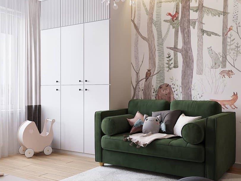 Готовый дизайн-проект детской комнаты для ребенка от 3 лет 1