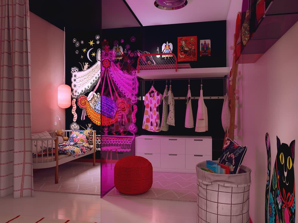 Детская комната для девочки в розовом цвете 1