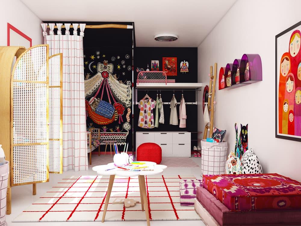 Детская комната для девочки в розовом цвете 2