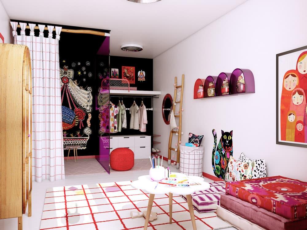 Детская комната для девочки в розовом цвете 3