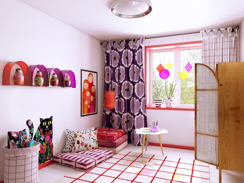 Детская комната для девочки в розовом цвете 4